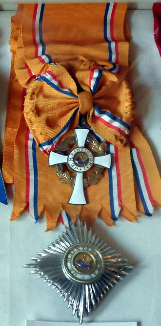 Order of the Crown (Netherlands) - Sash with badge and star of the grade Grand Cross