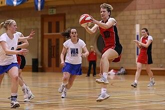 Netball in Europe - Image: Orkney v Shetland netball 2009