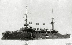 Peresvet-class battleship - Oslyabya leaving Revel, October 1904