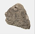 Ostracon Depicting Ramesses IX attributed to the chief draftsman Amenhotep MET DP311580.jpg