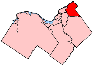 Orléans (electoral district) - Ottawa—Orléans in relation to other electoral districts in Ottawa (2003 boundaries)