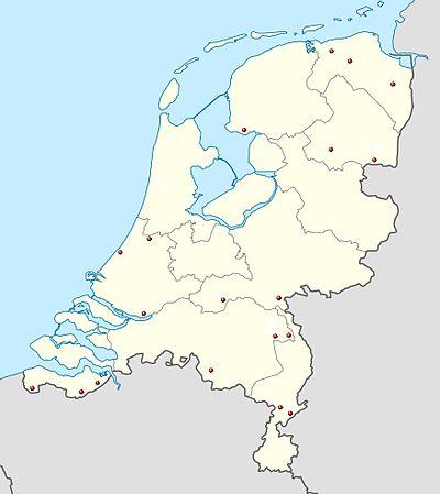 Overzicht locaties nog aanwezige luchtwachttorens in Nederland