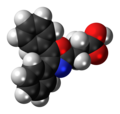 Oxaprozin molecule spacefill.png