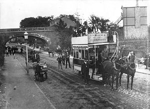 Reading Buses - Horse tram on Oxford Road in 1893