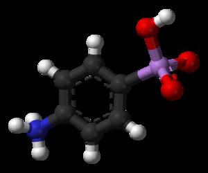 Arsanilic acid - Image: P arsanilic acid from xtal 3D balls