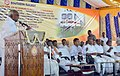 P. Radhakrishnan addressing the gathering at the foundation stone laying ceremony for the doubling of tracks with electrification of Madurai- Vanchi Maniyachchi- Tuticorin Section (160 km).jpg