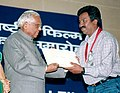 P. Sheshadri receiving the National Film Award for Best Film on Other Social Issues for Munnudi.jpg