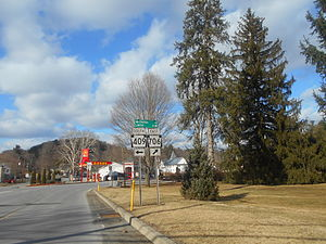 Pennsylvania Route 706 - Route 706 at the junction with Route 409 in Camptown