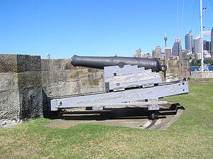 ML 8 inch shell gun - 65 cwt gun at Fort Denison, Sydney, Australia