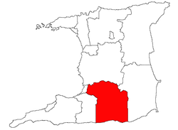 Location of Princes Town