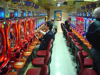 Gambling - A pachinko parlor in Tokyo, Japan