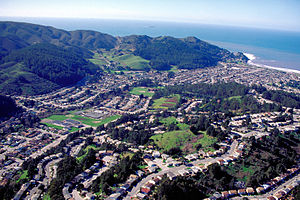 Pacifica, California - Aerial view of Pacifica