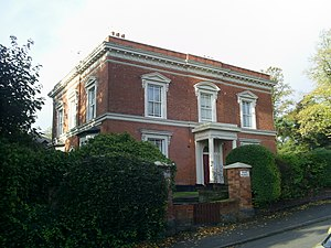 Constance Naden - Naden's grandparent's home, Pakenham House, 20 Charlotte Road, Edgbaston