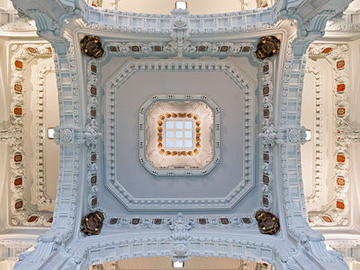 Interior of the Palace of Communications, Madrid, Spain.
