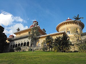 Sintra - The arabesque Monserrate Estate on another hilltop near the town of Sintra