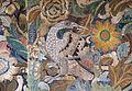 Palazzo colonna, sala dei ricami all'indiana, parati in seta di manifattura iberica (attr. a diego casale), 1650-75 ca. 09 uccello.JPG