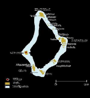 Palmerston Island - Map Palmerston