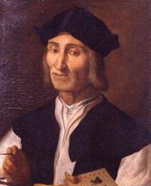 Marco Palmezzano - Marco Palmezzano, self-portrait