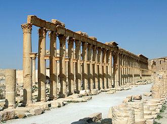 Decumanus Maximus - Decumanus Maximus in Palmyra in Syria