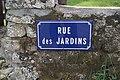 Panneau de la rue des Jardins (Éduarel, 12 septembre 2017).jpg