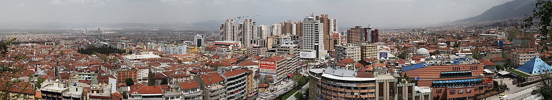 Panoramic view of Bursa, Turkey.