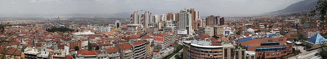 Panoramic view of Bursa, Turkey.