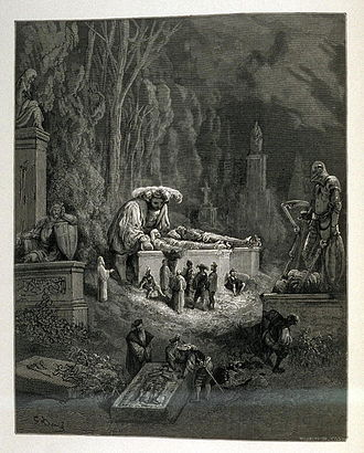 Og - Illustration of Pantagruel for the Fourth Book in the Pantagruel and Gargantua series by François Rabelais published in Œuvres de Rabelais (Paris: Garnier Freres, 1873), vol. 2, Book IV, ch. XXVII, opposite page 87, Gustave Doré, 1873
