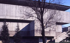 Galleria d'Arte Moderna, Bologna - The gallery building designed by Leone Pancaldi, circa 1975. Photo by Paolo Monti