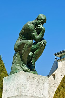 The Thinker statue by Rodin - Le Penseur.jpg - image in public domain.
