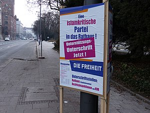 German Freedom Party - Campaign poster for the Munich local elections 2014