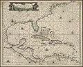 Pascaarte vande vaste cust en eylanden van Westindien, als mede de Virginis en Nieu-Nederland, van C. Droge tot C. Cod (4587177112).jpg