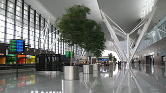 Gdańsk Lech Wałęsa Airport - Public area at Terminal T2