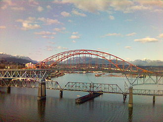 Canadian (train) - The New Westminster Bridge.