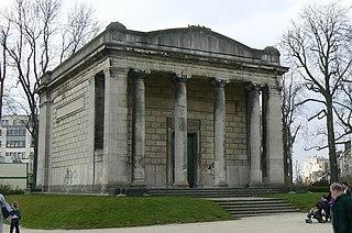 Neoclassical pavilion in Belgium