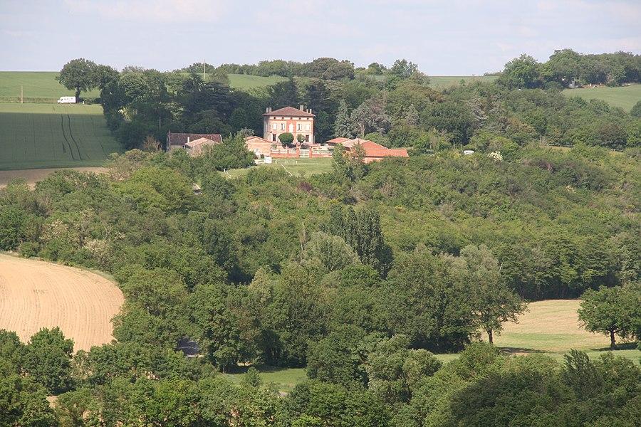 Paysages boisés près de Toulouse