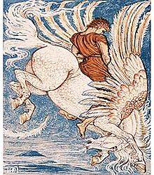 Domestication du Cheval dans CHEVAL 220px-Pegasus_Walter_Crane