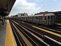 Pelham Bay Park-bound R62A 6 train leaves Buhre Av.jpg