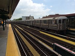 Pelham Bay Park-bound R62A 6 train leaves Buhre Av.jpg