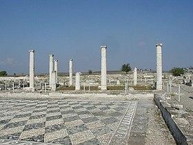 Mωσαϊκό στoν Αρχαιολογικό Χώρο της Πέλλας, της αρχαίας πρωτεύουσας  της Μακεδονίας.