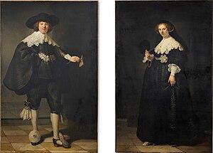 Pendant portraits of Maerten Soolmans and Oopjen Coppit - Image: Pendant portraits of Maerten Soolmans and Oopjen Coppit