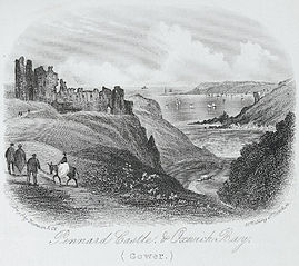 Pennard castle, & Oxwich bay, Gower
