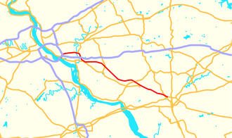 Pennsylvania Route 283 - Image: Pennsylvania Route 283 map