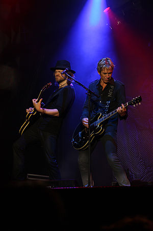 Christoffer Lundquist - Lundquist plays alongside Per Gessle at the Roxette Concert in Halmstad 14 August 2010