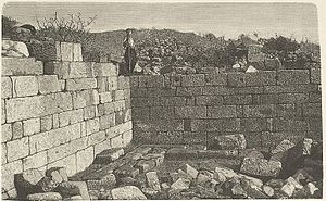 Library of Pergamum - Library of Pergamum before excavation, 1885