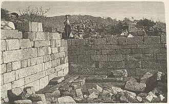 Library of Pergamum - Library of Pergamum before excavation, 1885