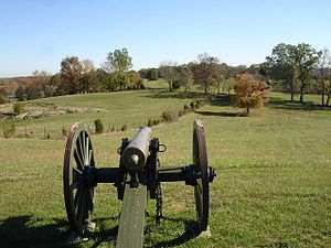 80th Illinois Volunteer Infantry Regiment -  Parsons' battery position on the Open Knob, 2007.