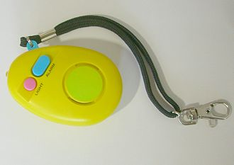 Personal alarm - A personal safety alarm starts sounding once the emergency button is pressed.