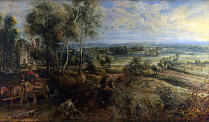 A View of Het Steen in the Early Morning - Image: Peter Paul Rubens A View of Het Steen in the Early Morning