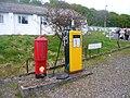 Petrol pump, Scottish Vintage Bus Museum, 16 May 2010.jpg