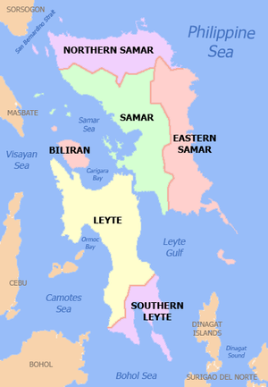 Eastern Visayas - Political Map of Eastern Visayas Region